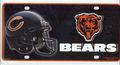 Chicago Bears metal matrícula