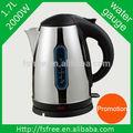 Artículo promocional 1.7l 2000w mejor inalámbrico hervidor eléctrico casa aparato de cocina