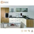 De moda de diseño contemporáneo de madera sólida del gabinete de la cocina, de color naranja de la cocina del gabinete
