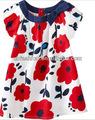 Floral printed baby dress with cotton fabric