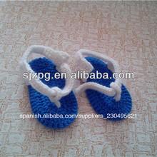 moda bebé ganchillo sandle calzado para la venta