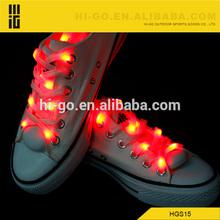 buena calidad populares de venta al por mayor del cordón del zapato de luz