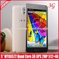 "fábrica 5.3"" mt6572w 3G doble SIM eshine note3 desbloquear teléfono móvil"