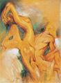 abstracta desnuda africano pinturas de mujer