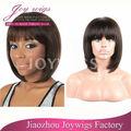 para las mujeres negro nicki popular peluca de alta calidad del pelo humano bob corto peluca delantera del cordón
