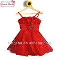 flor menina vestidos india atacado menina vermelho e branco de vestidos de noiva
