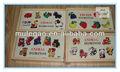 Animal de madera domino& juguete educativo