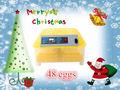48 mini huevos incubadora 12V o 110V o 220V completo de mini incubadora automática del huevo para la venta