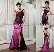 2013 mejor venta caliente elegante uno- hombro larga parte& vestido vestido de noche xyy04-112