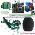 reciclaje reciclaje línea de producción de llantas de desecho de la máquina / neumático de goma en polvo