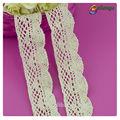 Guangzhou patrón de flores de tela de colores adornos 100% blanco de algodón blusa de encaje y falda