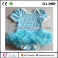ponto branco azul crianças tutu romper bebê meninas vestido de festa