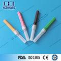 Consumibles quirúrgicos no vacío aguja material de polímero diferentes tamaños de recogida de sangre