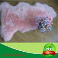 100% alfombra genuino zalea de la piel natural de lana de color