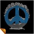 signo de la paz motivo de revisión, cristales revisión diseños motivo