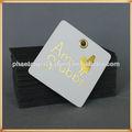 Forma cuadrada recubierta etiquetas de papel reciclado con las señoras de letras LOGO Oro prendas tag