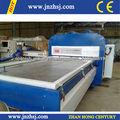 Pvc mdf puerta de vacío de membrana que lamina& de prensa de la máquina para trabajar la madera