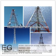 de acero galvanizado en caliente de telecomunicaciones torre de celosía