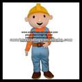 de alta calidad de felpa bob el constructor traje de la mascota de adultos bob el constructor traje