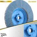 7'' 180x22mm flexible disco de la aleta de fibra con el respaldo de plástico