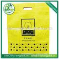Imágenes de impresión no tejido de compras no- tejido con la bolsa de la compra personalizado logotipo de la bolsa