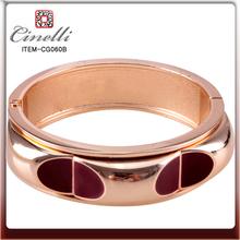 rosa chapado en oro pulseras