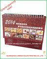 2014 a todo color& pantone escritorio personalizado de impresión del calendario/