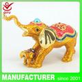 Indio de decoración del hogar para venta al por mayor de latón de metal caja de la baratija de elefante( qf4055)