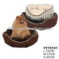 los accesorios del perro de lujo de la raya de la felpa suave cama del perro