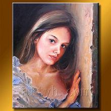 hecho a mano abstracta retratoimagen de mujeres desnudas de pinturas sobre lienzo