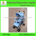 bleu bébé poussette parapluie avec un tube en fer