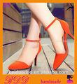 de color naranja de las señoras zapatos de vestir