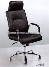 calidad giratoria de cuero de la pu de escritorio de la computadora de mobiliario de oficina silla ejecutiva