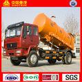 sinotruk howo de vacío de succión de aguas residuales 10m3 camiones cisterna