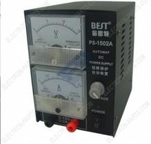 MEJOR 1502A 15V 2A AUTOMAT DC fuente de alimentación regulada Pointer tipo de medidor Head Display