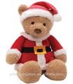 felpa oso de peluche con tela de navidad