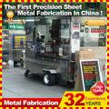 personalizado hecho de metal de la calle móvil remolque carro de perros calientes para la venta