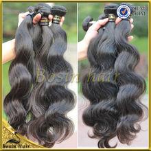 Caliente venta de onda natural brasileño cabello virgen, tinte de cualquier color, el precio de fábrica de cabello virgen