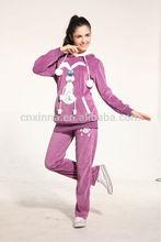 2014 venta caliente pijama coreano de moda pijama niña con capucha