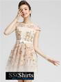 Sscshirts hermoso baratos design100% vestido de lino