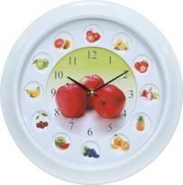 reloj de pared plástico, reloj de pared del fruto