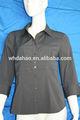 o pescoço da camisa de moda feminina modelo de blusa de uniforme