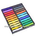 24 fácil de colores temporal no- tóxico de bricolaje de tiza de pelo tinte de pelo suave kit de pasteles