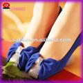 nova vinda da moda de calçados enfeites de flores de tecido
