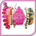 2014 barato de promoción de la acción usd 1.5 reloj hecho a mano conjunto de ginebra moda mujer reloj