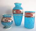 2014 nuevo diseño azul jarrones artísticos patrón con pescado