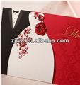 2013 de alta calidad de la boda tarjeta de invitación