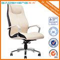 crema de lujo de cuero silla de oficina para big boss