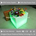 las ventas caliente colorido cuadrado de plástico decorativas macetas de flores
