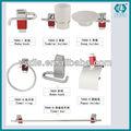 7000 Kit Set De Accesorios Para Baño Con Repisa 7 Piezas Metal Cr